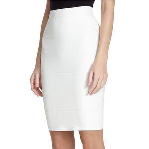 BCBGmaxazria Alexa Bandage Skirt White